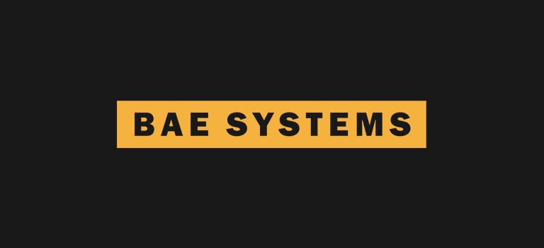 BAE systems logo on balck