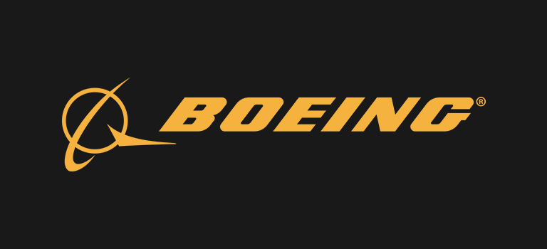 Boeing logo on black