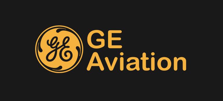 GE Aviation logo on black