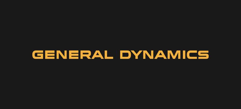General Dynamics logo on black