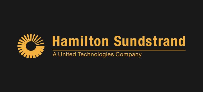 Hamilton Sundstrand logo on black