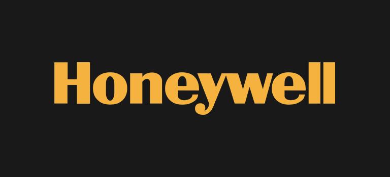 Honeywell logo on black