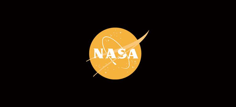 Nasa Logo on Black Background