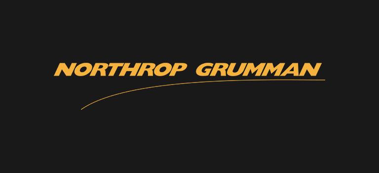Northrop Grumman logo on black